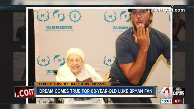 Luke Bryan Lets Terminally Ill 88-Year-Old Fan Grab His Butt