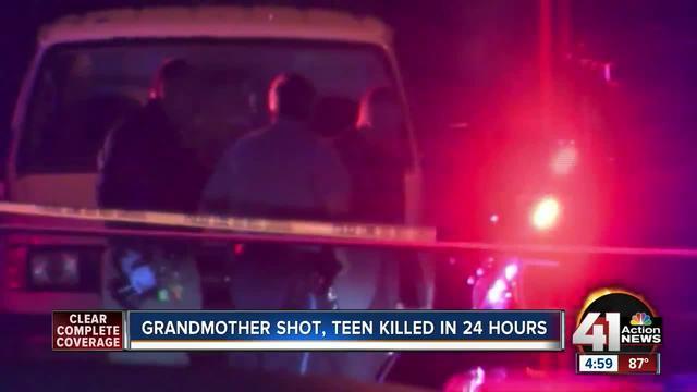 Grandmother shot, teen killed in 24 hours in KCK