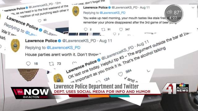 Lawrence Police Department uses social media, humor to engage community