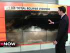 Some areas may see cloud cover during eclipse