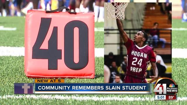 Teen shooting victim mourned at football game