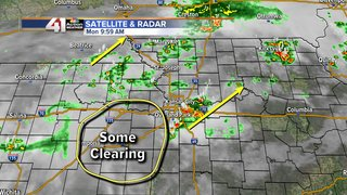 Storms move through making way for Eclipse