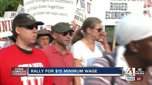 Fast food workers rally for $15 minimum wage
