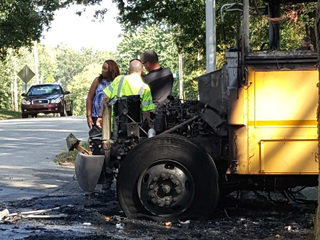 KC school bus driver hailed as hero after fire