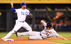 Turning Two; Royals turn 5 double plays in win