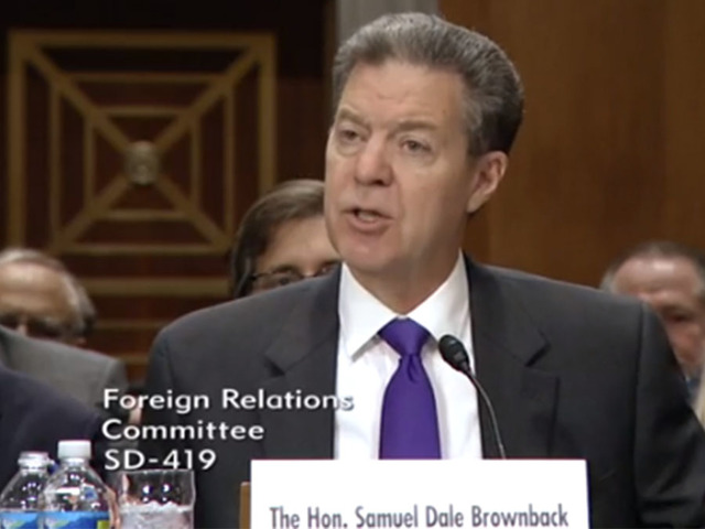 Brownback testifies at his nomination hearing