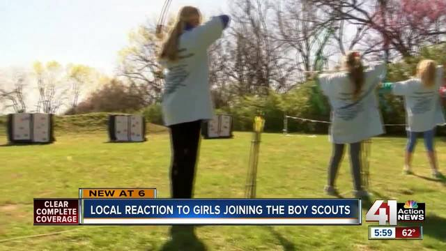 Boy Scouts go on new adventure, will admit girls to programs