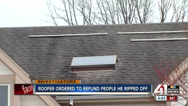 Judge orders roofer to refund customers