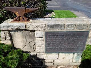 Part of Shawnee historic marker stolen