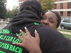 Family of girl shot in head surprised with van
