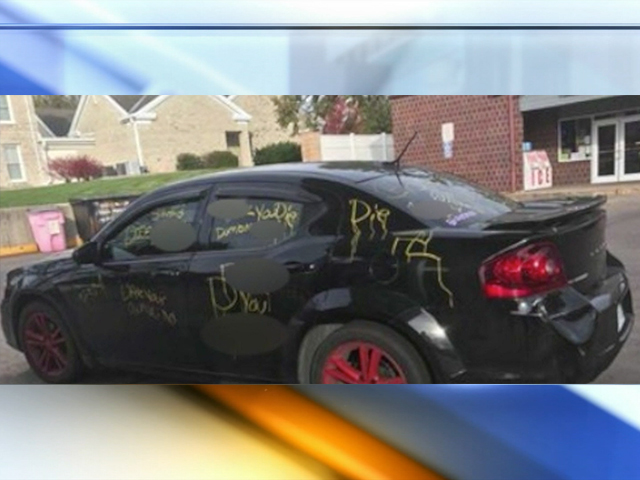Racist graffiti painted on auto near K-State was a fraud