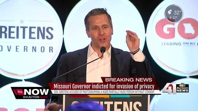 Missouri Gov. Eric Greitenshas been indicted by a grand jury in St. Louis on a felony invasion of privacy charge