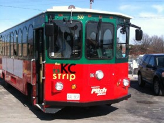 Kansas City Strip party trolley