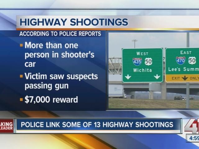 KCPD links some of 13 highway shootings