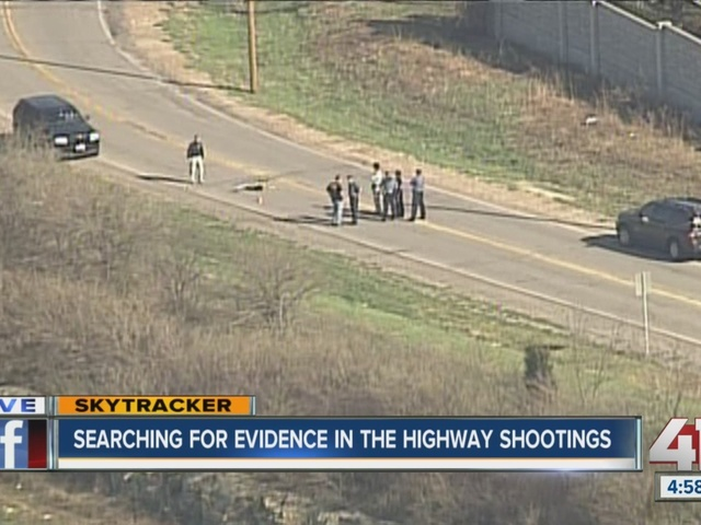 Searching for evidence in highway shootings