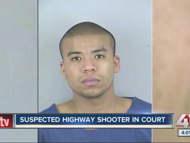 Suspected highway shooter in court