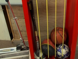 Batter up! Build this organizer for kids' gear