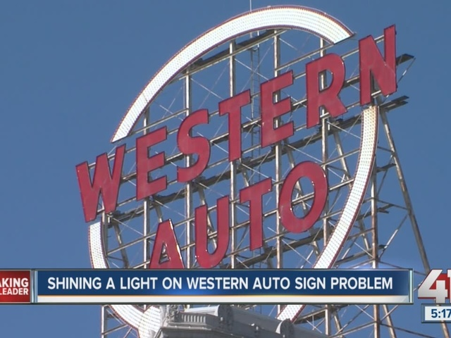 Iconic Western Auto Sign In Kansas City Dark For Months