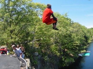 VIDEO: Not your ordinary cliff jump