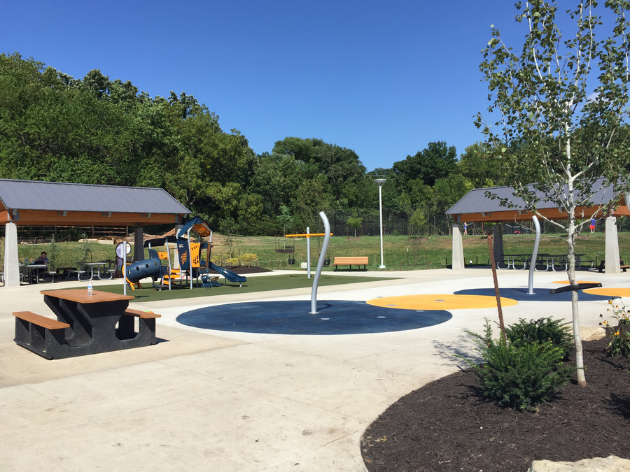 Overland park closes roe park s new splash pad until - Home and garden show overland park ...