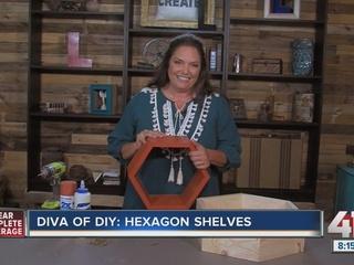 Diva of DIY: How to make hexagon shelves