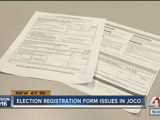 Johnson County is offering a federal voter registration form one ...