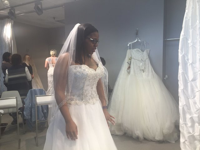 Lenexa bridal shop holds wedding gown giveaway for for Free wedding dresses for military brides