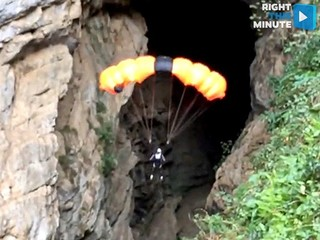 Pro BASE jumper Eder Navacerrada defies death