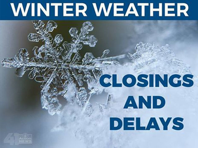 Winter weather closings and delays