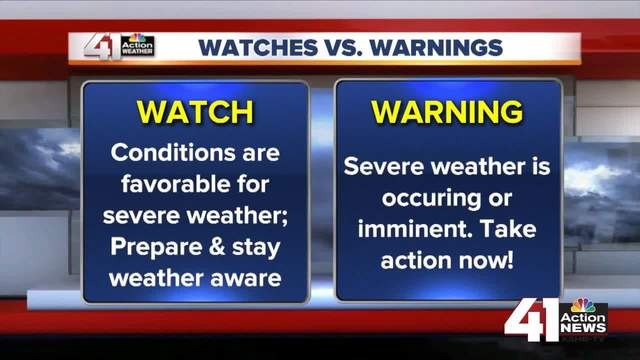 Lindsey Anderson explains weather watches vs- warnings