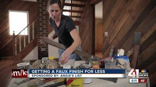 Angie's List: getting a faux finish for less