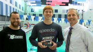 Bonner Springs swimmer Ryan Downing emerges