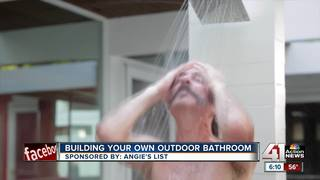 Angie's List: building an outdoor shower