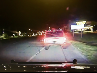 Deputy pulls over driver with gas hose attached