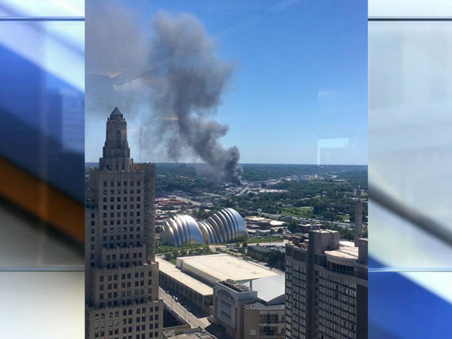 PHOTOS: Three Alarm Fire Engulfs Furniture Warehouse Near Downtown Kansas  City   Gallery