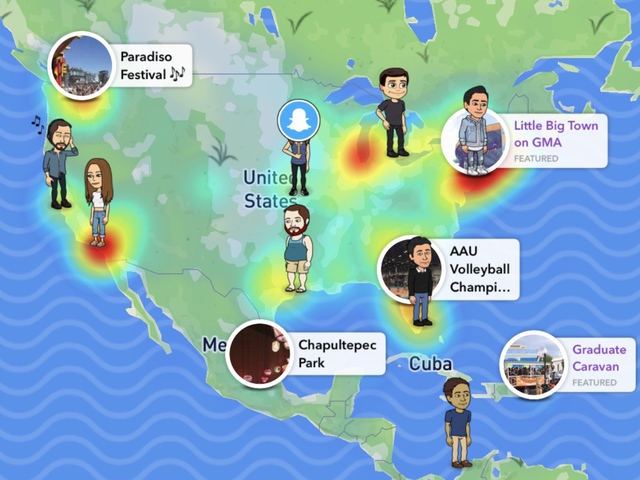 New snapchat update map