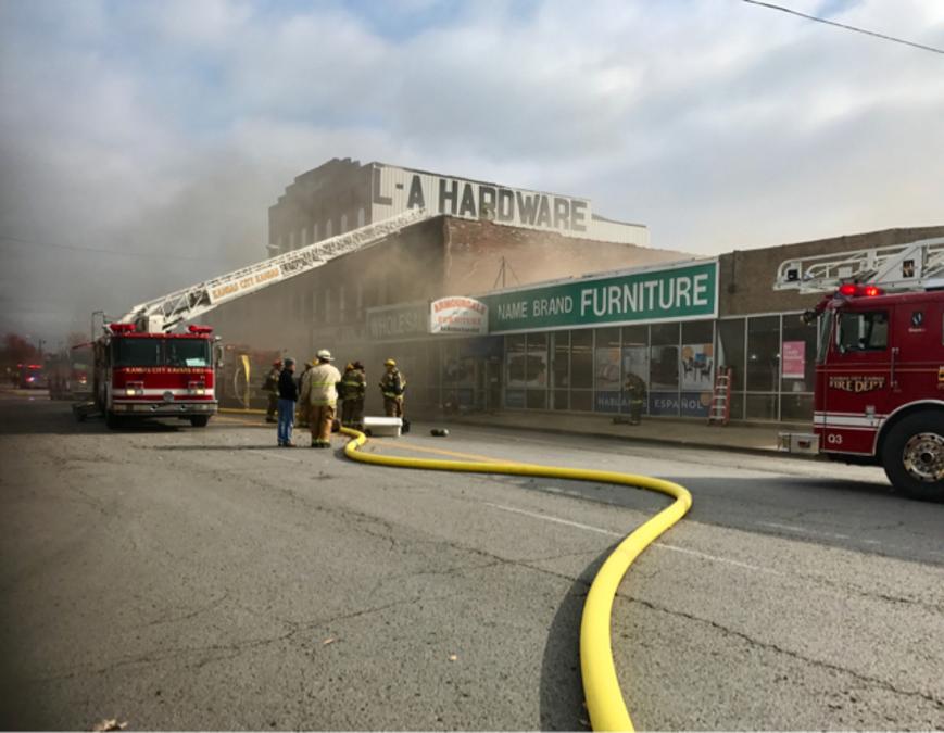 Firefighter Injured, Business Destroyed In 3 Alarm Fire   KSHB.com 41  Action News