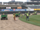 Royals crews finish up massive field renovation