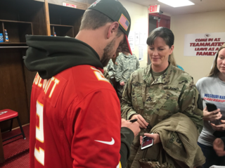 Service members get surprise from Chiefs