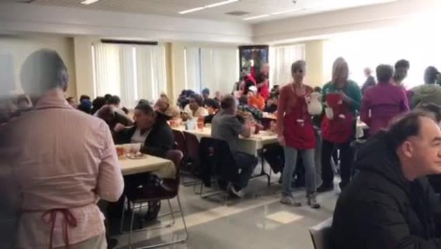 Hundreds enjoy Thanksgiving meal served up by Salvation Army