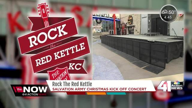 Salvation Army To Hold 2nd Annual U0027Rock The Red Kettleu0027 Concert On Power U0026  Light Stage   KSHB.com 41 Action News