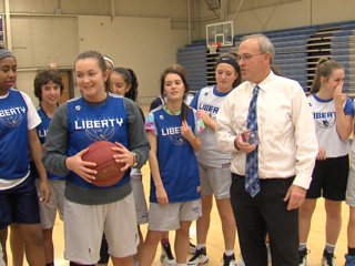 Liberty's Kayel Newland owns the 3-point line