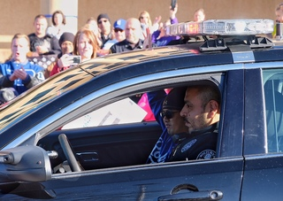 PHOTOS: Officer Tom Wagstaff returns home