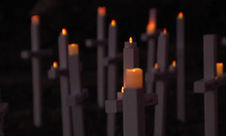Church erects crosses for KCMO homicide victims