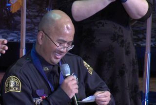 Officer Wagstaff honored at ceremony