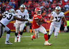 Chiefs rookie hits 1,000 yard mark for season