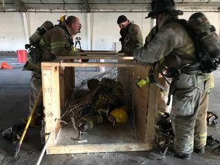 KC area firefighters undergo 'survival training'