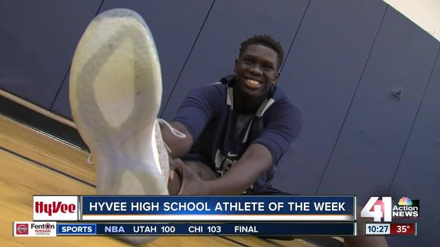 Center Yor Anei wins HyVee Athlete of the Week