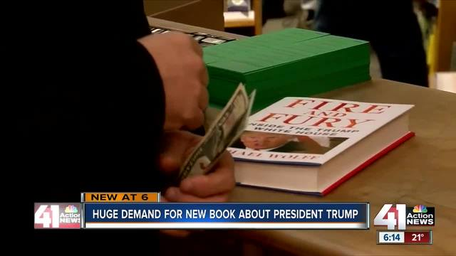 New book about Trump flying off local shelves