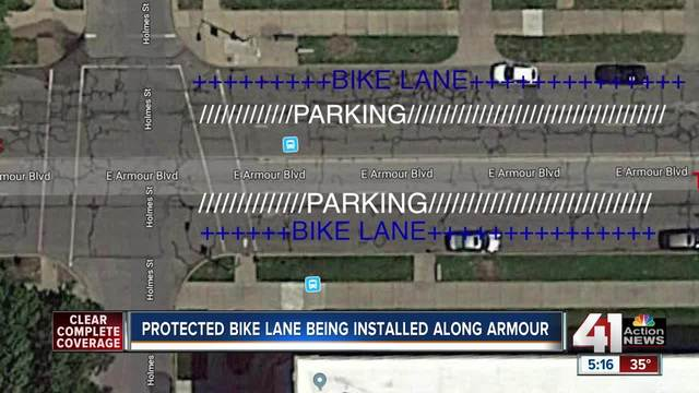 City Council approves first protected bike lanes along Armour Blvd